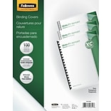 Fellowes® Crystal Presentation Binding Cover, Oversized Letter, 25/Pack