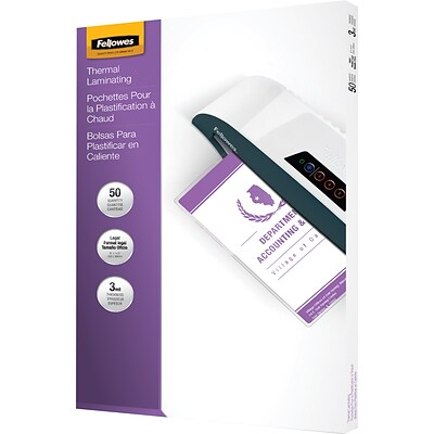 Fellowes® Laminating Pouches, 3mm, 9x14-1/2
