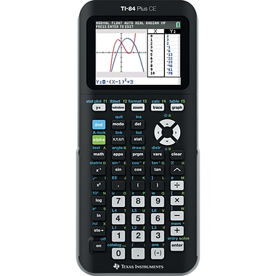Texas Instruments® TI-84 CE Color Screen Graphing Calculator, Black