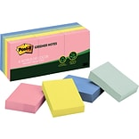 Post-it® Recycled Notes, 1 1/2 x 2, Helsinki Collection, 12 Pads/Pack (653RPA)