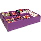 Classroom Keepers Activity Tray, 4.3 Height x 21.3 Width x 12.5 Depth, Purple