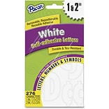 Pacon Reusable Self-Adhesive Letters, Uppercase Letters, Punctuation Marks, Number, White