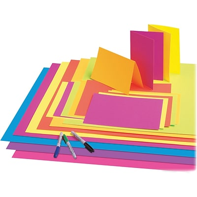 Pacon Neon Premium Poster Board, 2228, 25/Ct, Neon Pink