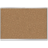 Quartet Aluminum Prestige 2 Magnetic Cork Board, 36 Height x 48 Width, Brown Cork Surface, Silver