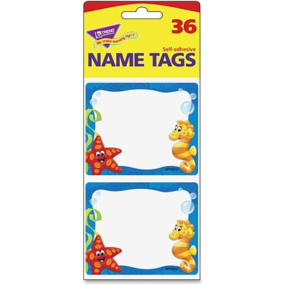 Trend Sea Buddies Collection Terrific Labels, 3 Width x 2.50 Length, 36/Pack, Rectangle, Assorted