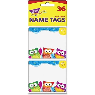 Trend Owl-Stars Collection Terrific Labels, 3 Width x 2.50 Length, 36/Pack, Rectangle