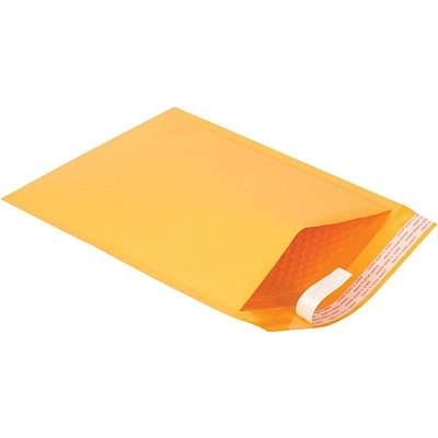 Self-Seal Cushioned Mailers, Side Seam, #4, 9-1/2 x 13-1/2, 100/Ct