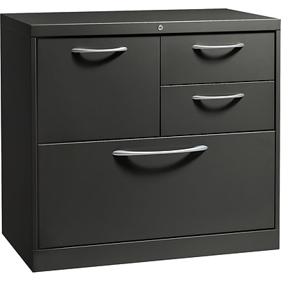 HON® Flagship® 18D 4 Drawer File Center With Box/Box/File/Lateral File Drawer; Charcoal