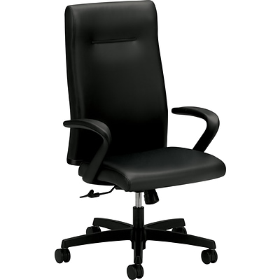 HON® Ignition High-Back Leather Executive Chair; Black