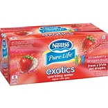 Nestle® Pure Life Exotics Sparkling Water, Strawberry Dragonfruit, 12-oz Can, 8/Pack, 3 Packs/Carton