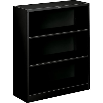 Hon Brigade Steel Bookcase 3 Shelves 34 1 2w Black Finish