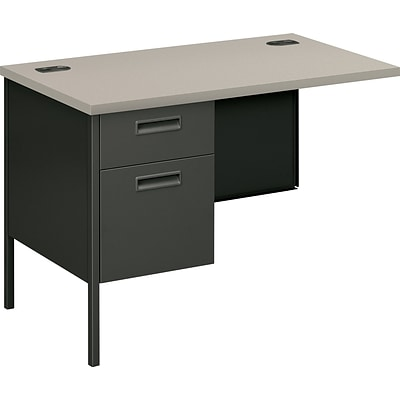 HON® Metro Classic Series Metal Office Suite in Charcoal/Grey Finish; Left Return