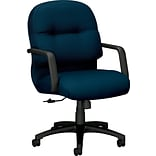 HON Pillow-Soft Managerial/Midback Chair, Fabric, Mariner, Seat: 22W x 18 1/2D, Back: 22W x 19.63
