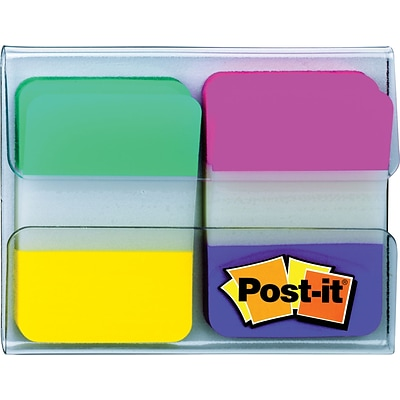 Post-it® Tabs, 1 Wide, Assorted Colors, 44/Dispenser (686-AYPV1INT)