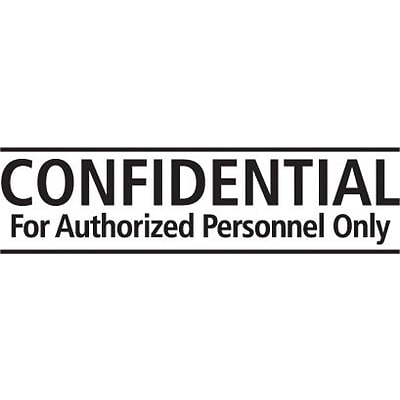 Self-Inking Stock Message Stamps; Confidential for Authorized Personnel Only