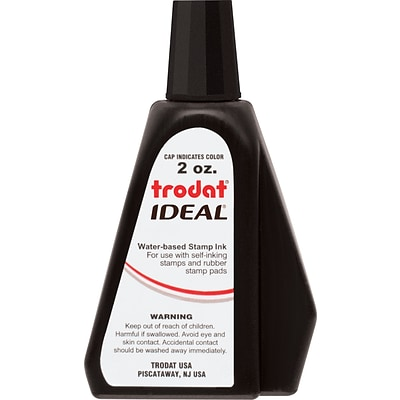 trodat® IDEAL® Refill Ink for Self-Inking Stamps; Black