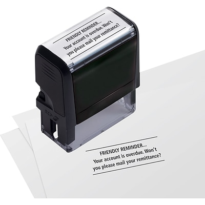 Self-Inking Stock Message Stamps; Friendly Reminder