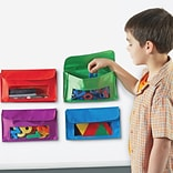 Learning Resources Magnetic Storage Pockets, 5.5 Height, Red, Green, Blue, Purple