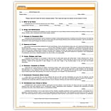 Medical Arts Press® Dental Consent Form; Rainbow FormFamily™, Dental