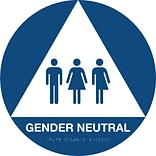 Gender Neutral Sign; Round