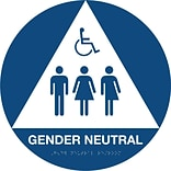 Gender Neutral Sign; Rnd w/Handicapped Logo