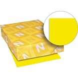 Exact Brights Paper, 8 1/2 x 11, Bright Yellow, 50 Lb., 500 Sheets/ream