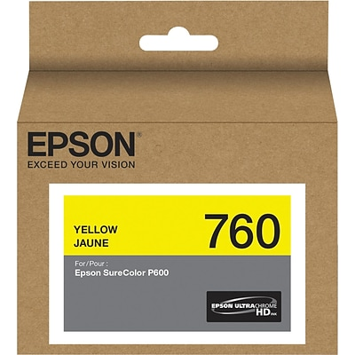 Epson T760420 (t760) Ultrachrome HD Ink, 25.9 Ml, Yellow