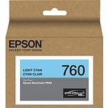 Epson T760520 (t760) Ultrachrome HD Ink, 25.9 Ml, Light Cyan