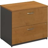 Bush Westfield 2-Drawer Lateral File, Natural Cherry/Graphite Gray Finish, Dock Delivery