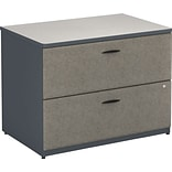 Bush® Cubix® Collection in Slate Finish; 2-Drawer Lateral File