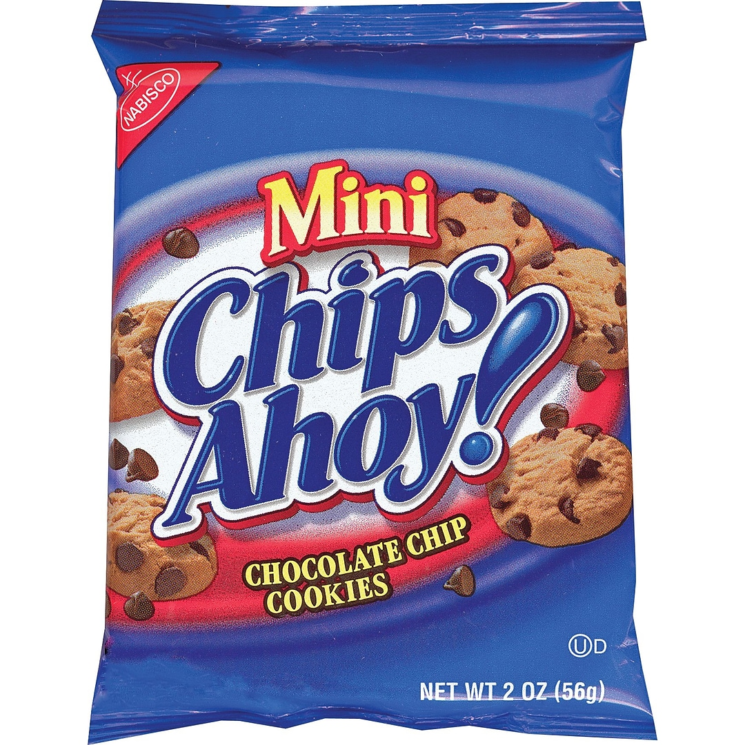 Chips Ahoy, Chocolate Chip Cookies, 2 oz  Bags 60 Bags/Box