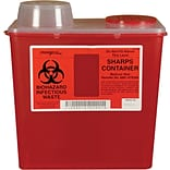 Monoject Sharps Containers; 8 Quart with Chimney-Top