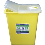 Chemotherapy Sharps Containers; 8 Gallon with Hinged Lid