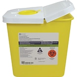 Chemotherapy Sharps Containers; 2 Gallon, Hinged Lid