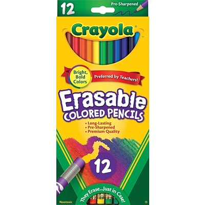 Crayola® Eraseable Colored Pencils, 12/Pack