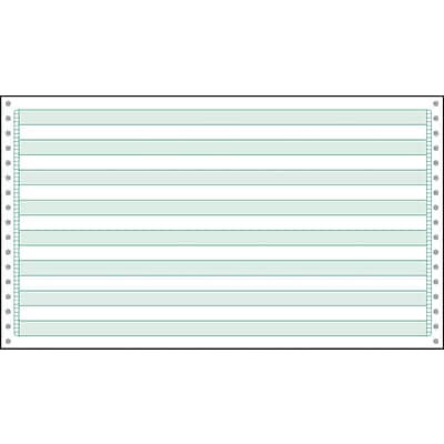 Printworks® Professional Computer Paper W/1/2 Green Bar, 14 7/8 x 8 1/2, White, 3000 Sheets
