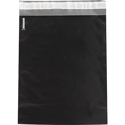 Colored Poly Mailers, Black, 12 x 15-1/2, 100/Case