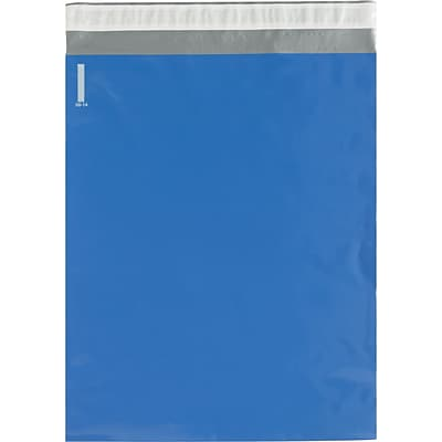 Colored Poly Mailers, Blue, 14-1/2 x 19, 100/Case