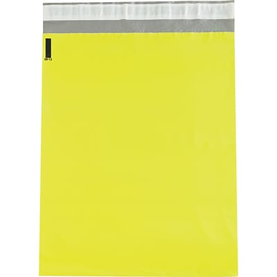 Colored Poly Mailers, Yellow, 12 x 15-1/2, 100/Case
