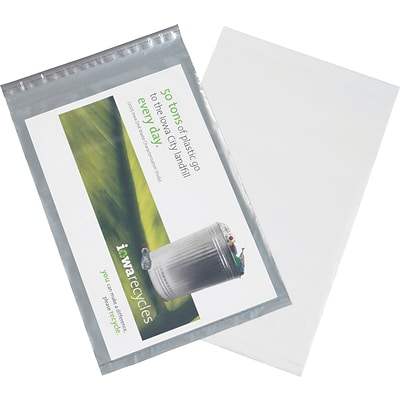 Clear View Poly Mailers, Clear/White, 14-1/2 x 19, 100/Case