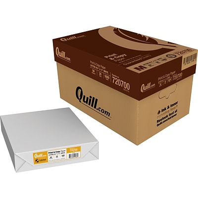 Quill Brand® Print & Copy Paper; 8-1/2 x 11, 94 Bright, 20LB, 500 sheets