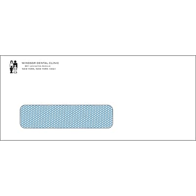 Medical Arts Press® Single Window Self-Seal #10 Envelopes; Security Tint, Personalized, 500/Box