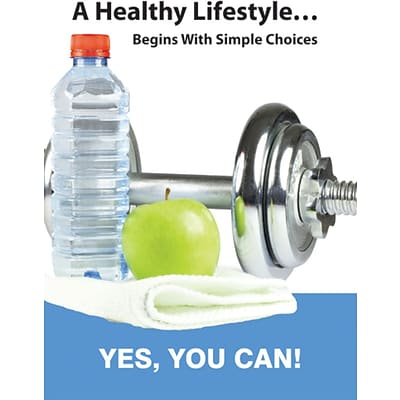ACCUFORM SIGNS® WorkHealthy™ Poster; HEALTHY LIFESTYLE BEGINS W/SIMPLE CHOICES, 24x18 Flex Plastic