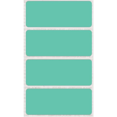 See-Thru Full Color Label Protectors, Aqua