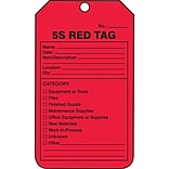 ACCUFORM SIGNS® Production Control Tag, 5S RED TAG, 5¾ x 3¼, PF-Cardstock, 25/Pk