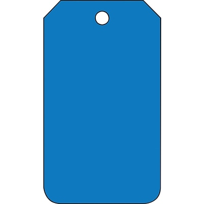 ACCUFORM SIGNS® Solid Color Blank Tag, Blue, 5¾ x 3¼, RP-Plastic, 25/Pk