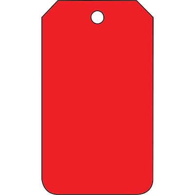 ACCUFORM SIGNS® Solid Color Blank Tag, Red, 5¾ x 3¼, RP-Plastic, 25/Pk