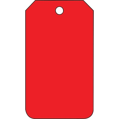 ACCUFORM SIGNS® Solid Color Blank Tag, Red, 5¾ x 3¼, PF-Cardstock, 25/Pk