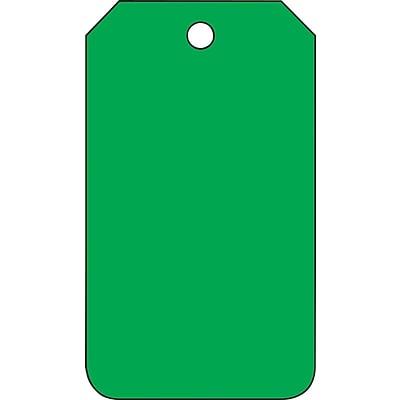 ACCUFORM SIGNS® Solid Color Blank Tag, Green, 5¾ x 3¼, RP-Plastic, 25/Pk