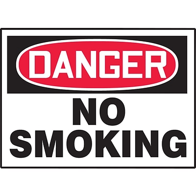ACCUFORM SIGNS® Safety Label, DANGER NO SMOKING, 3½ x 5, Adhesive Vinyl, 5/Pk